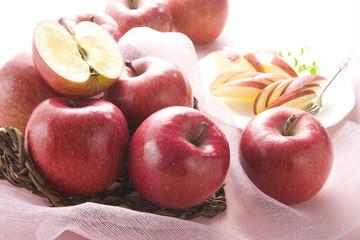 りんごの盛り付け