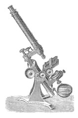 Early microscope drawing