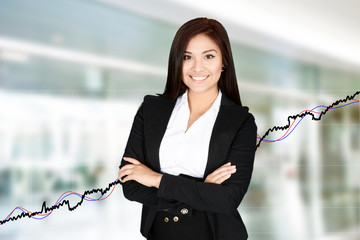 Businesswoman At The Stock Market