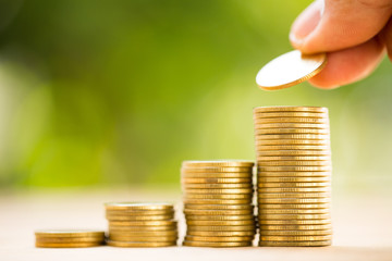 .Save money with stack money coin