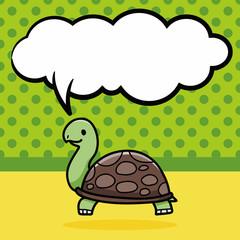 animal turtle doodle, speech bubble