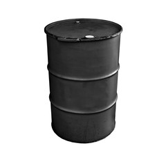 Black metal barrel isolated on white