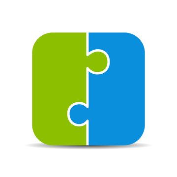 Two piece puzzle diagram