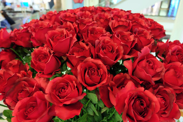 artificial red roses bouquet