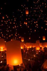 タイのランタン祭り