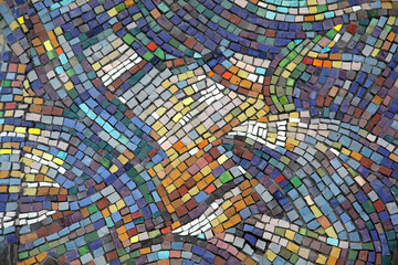 Ceramic mosaic background