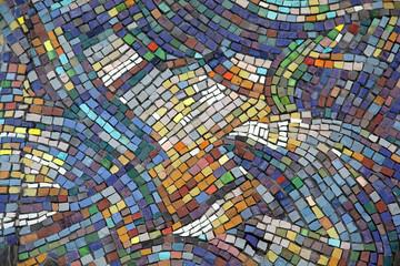 Ceramic mosaic background Wall mural