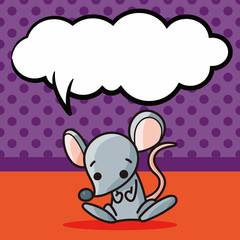 Chinese Zodiac rat doodle, speech bubble