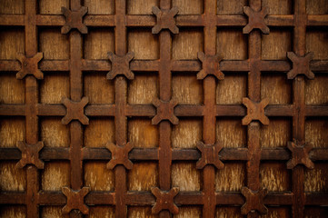 metal decorative lattice outside texture