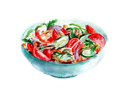 Салат акварель
