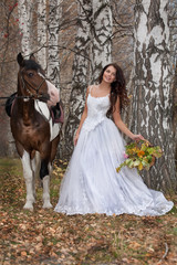 Young Woman And Horse