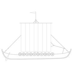 Drakkar vector outline drawings