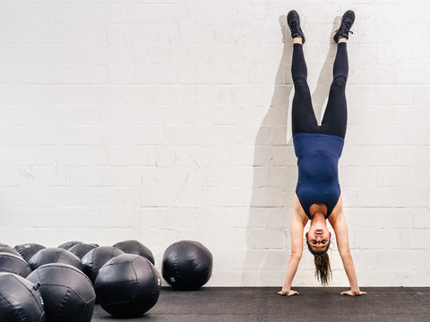 Handstand at the crossfit gym