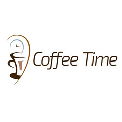 Coffee time logo design.