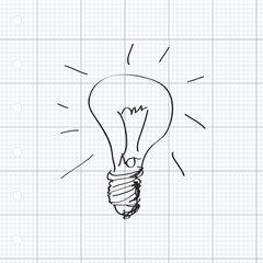 Simple doodle of a lightbulb