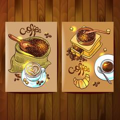 sketch illustration coffee