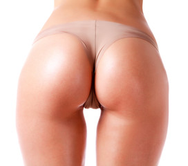 Woman ass isolated on a white background