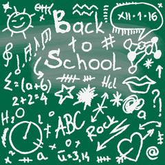 back to school, doodle texture, illustration design element