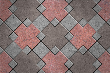 Floor tiles, granite square pattern
