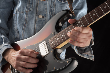 playing country electric guitar
