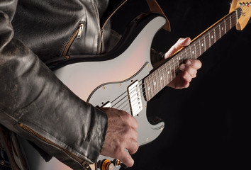 rocking with electric guitar