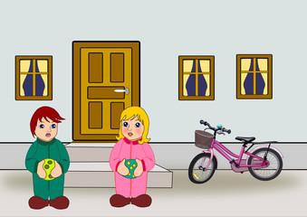Door, Windows, Bicycle and Children