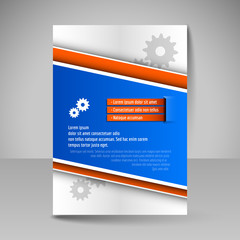 Business brochure. Editable A4 poster for design cover of magazi