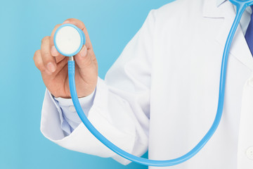 Doctor holding a stethoscope auscultation