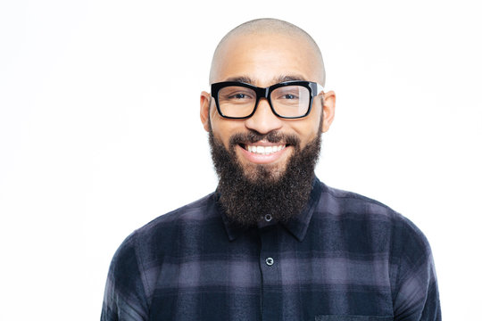 Smiling afro american man looking at camera
