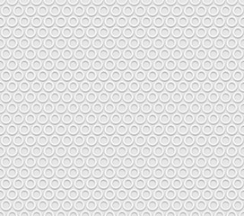 Seamless white abstract  background rings, embossed surface,  3D  vector