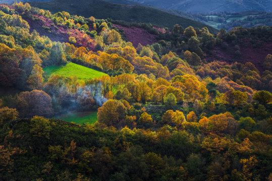 Luminoso otoño en  Courel
