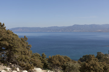 landscape on the island of Cyprus. beautiful nature on the island of Cyprus