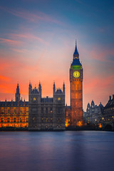 Wall Mural - Big Ben and Houses of parliament, London