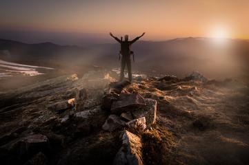 Concept alpiniste vision perspective challenge