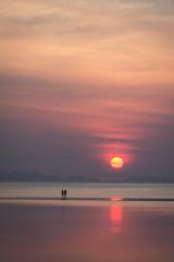 Beautiful sunset on koh pangan