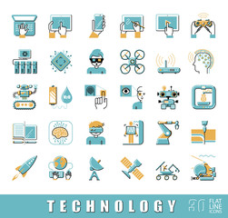 Set of technology icons. Vector illustration