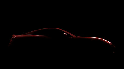 red sports car silhouette