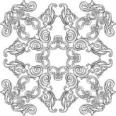 Baroque art greeting rosette
