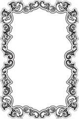 Black baroque acanthus frame