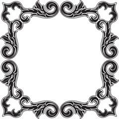 Black gothic art corner fine element set