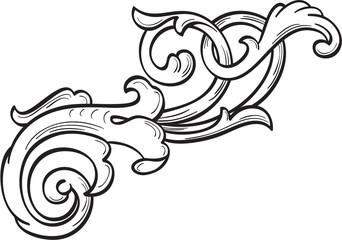 Retro acanthus leaf