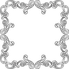 The retro victorian frame