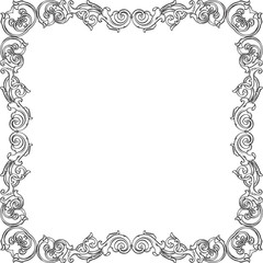 Victorian ornate frame