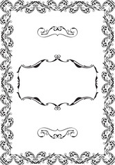 Vintage ornate luxury art baroque frame