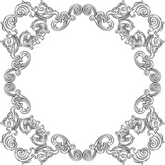 Orient real ornate art frame