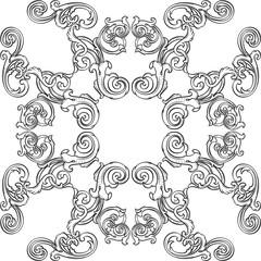 Orient real ornate art rosette