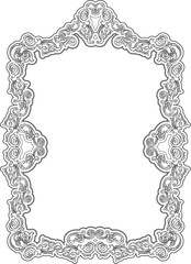 Ornate art retro frame