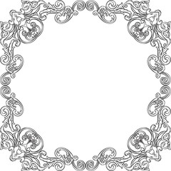 Baroque frame isolated on white