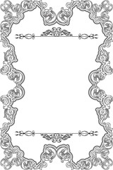 Vintage frame is isolated on white