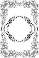 Retro fine ornate greeting border